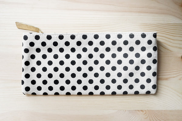 Polka dot canvas case