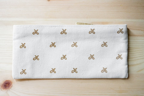Gold Ribbon Canvas Case