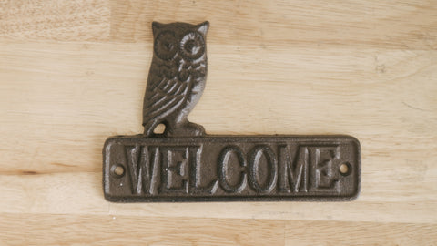 Welcome Wrought Iron Door Sign