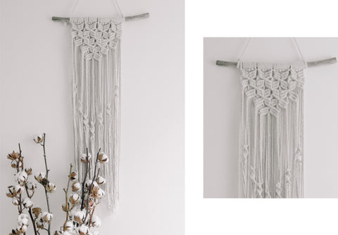Calla Macrame Wall Hanging (1 available)