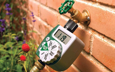 tap timer for vertical garden irrigation system