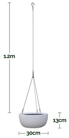 Balcony Lite Hanging Bowl Measurements Dimensions