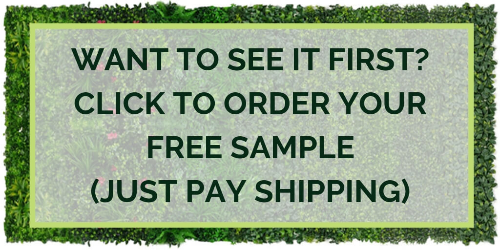 Click to order free sample of fern artificial vertical garden