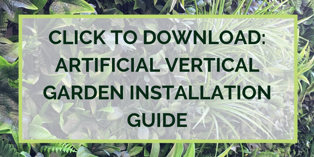 Download artificial white tropics vertical garden installation guide - vertical gardens direct