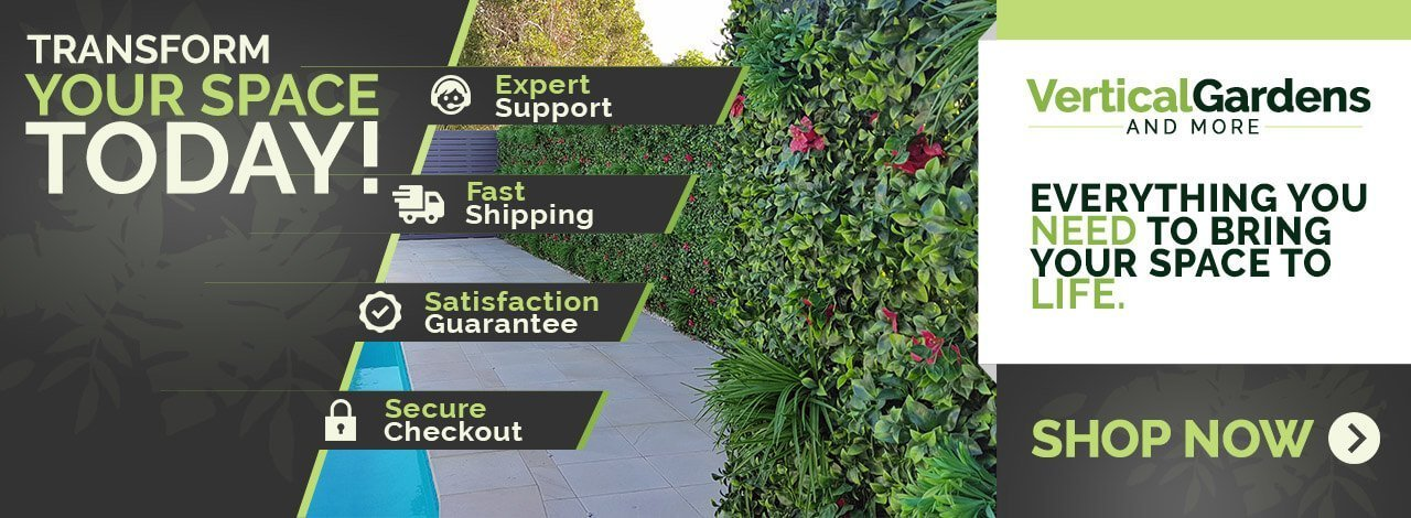 transform your wall or fence with an artificial vertical garden