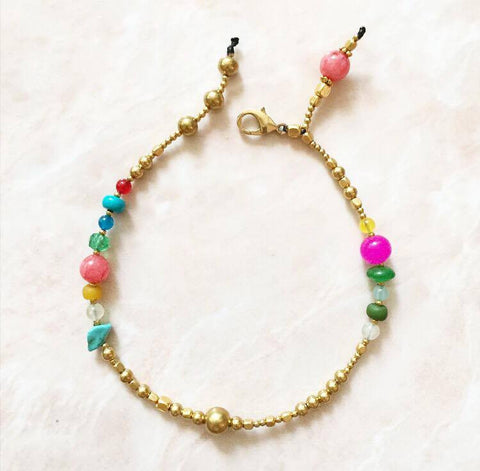 Multicolor anklet