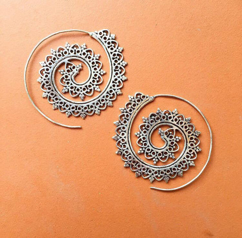 Beautiful silver spirals
