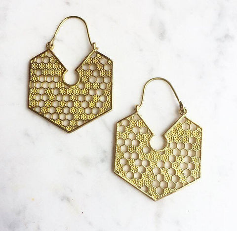 Beautiful brass earrings