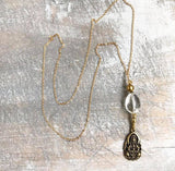 Guanyin crystal chain necklace