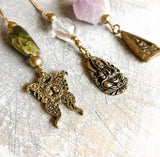 Butterfly stone chain necklace