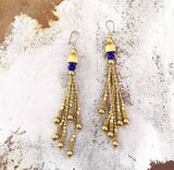 It´s all about gold and blue...one of a kind earrings