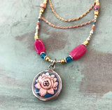 The rose gold chain Lotus necklace....one- of - a kind
