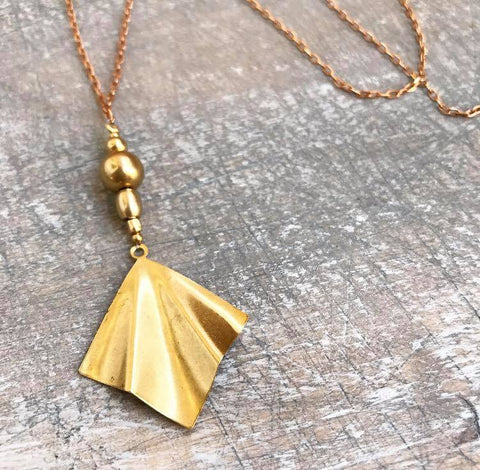 Beautiful brass necklace