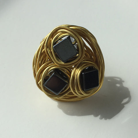 Gray Cubic Ring