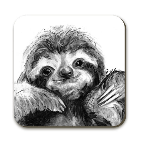 Sloth BW22C Coaster by Bex Williams