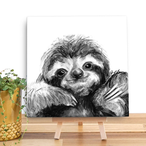 Sloth BW22V Canvas Mini by Bex Williams