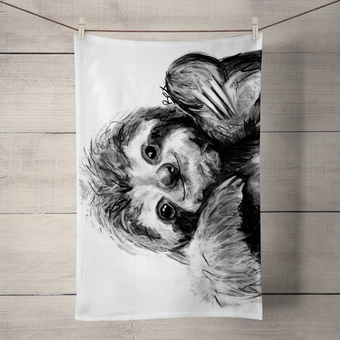 Sloth BW22T Tea Towel by Bex Williams