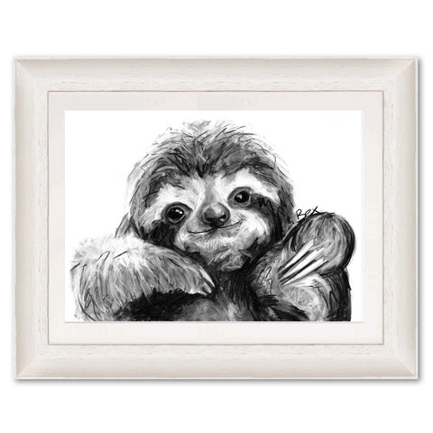 Sloth BW22 Original Print by Bex Williams
