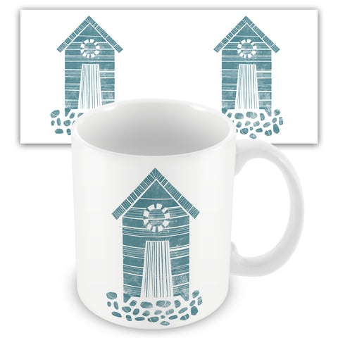 Beach Hut BS11M Ceramic Mug by Bells Scambler