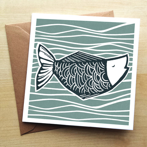 Catch of the Day BS03G Greetings Card by Bells Scambler