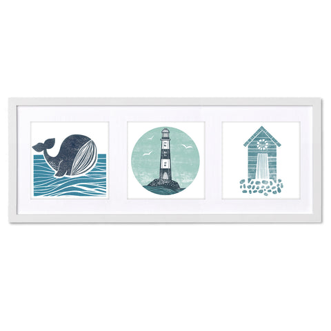 Coastal Views BS13X Triptych by Bells Scambler