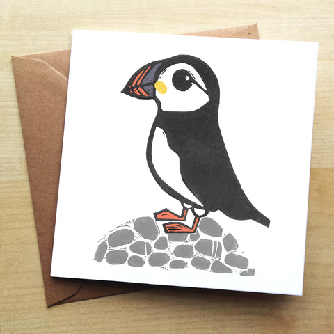 Puffin BS06G Greetings Card by Bells Scambler
