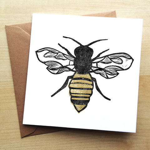 The Pollinator BS04G Greetings Card by Bells Scambler