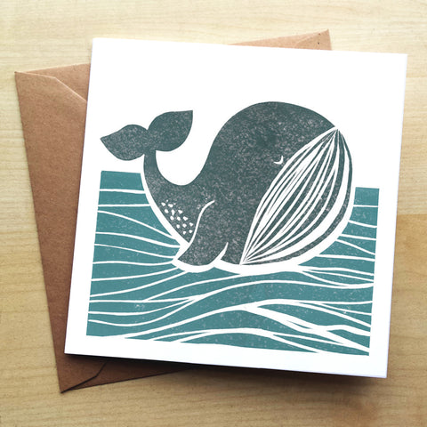 Whale of a Time BS05G Greetings Card by Bells Scambler