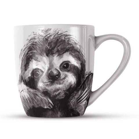 Sloth BW22H Bone China Mug by Bex Williams