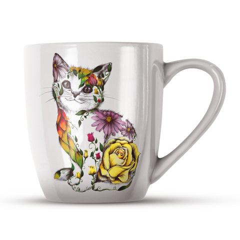 Rosie KB09H Bone China Mug by Kat Baxter