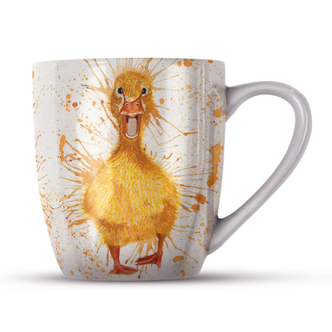 Splatter Duck KW15H Bone China Mug by Katherine Williams