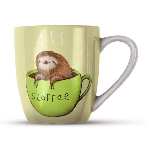 Sloffee SC21H Bone China Mug by Sophie Corrigan