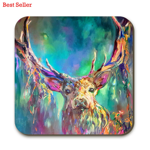 Woodland Stag SG06C Coaster by Sue Gardner