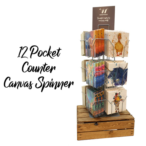 12-pocket Counter Canvas Spinner Canvas Mini by Wraptious | Trade