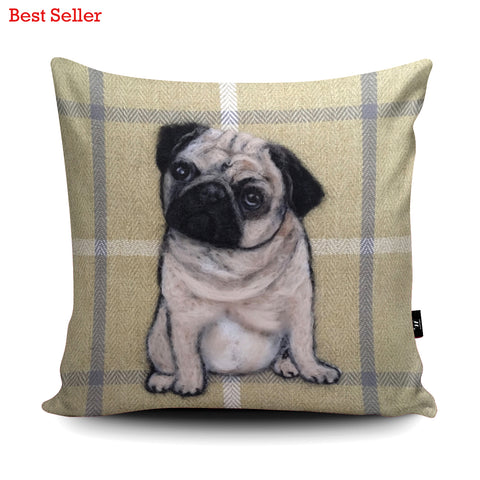 Pug SA11U Cushion by Sharon Salt
