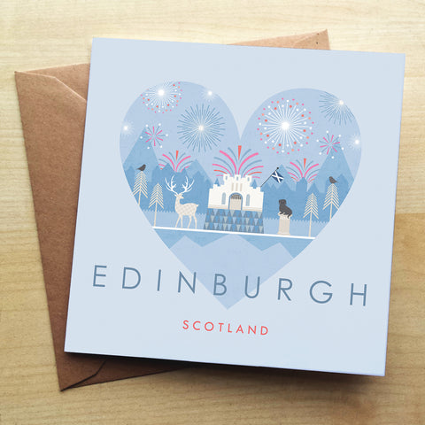 Edinburgh HY14G Greetings Card by Hilary Yafai