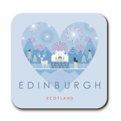 Edinburgh HY14C Coaster by Hilary Yafai