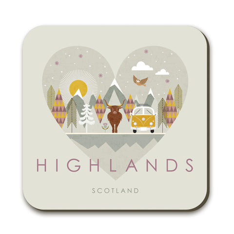 Highlands HY05C Coaster by Hilary Yafai