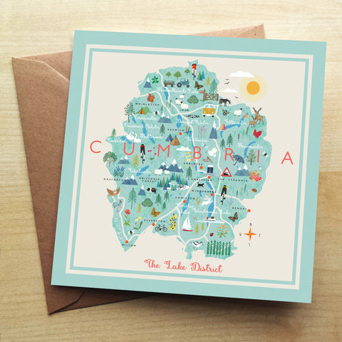 Lake District HY13G Greetings Card by Hilary Yafai