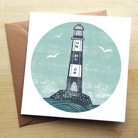 Lighthouse BS10G Greetings Card by Bells Scambler