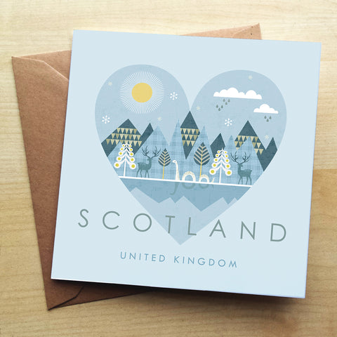 Scotland HY08G Greetings Card by Hilary Yafai