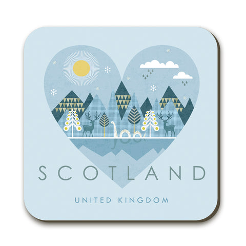 Scotland HY08C Coaster by Hilary Yafai