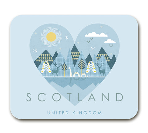 Scotland HY08A Placemat by Hilary Yafai