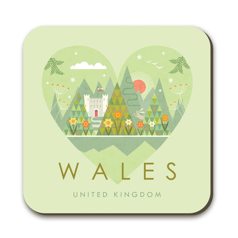 Wales HY10C Coaster by Hilary Yafai