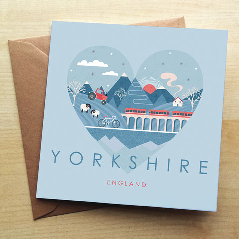 Yorkshire HY12G Greetings Card by Hilary Yafai