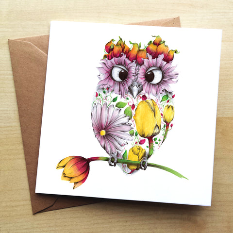 Agnes KB12G Greetings Card by Kat Baxter