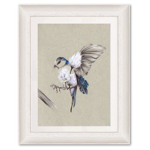 Rustic Bird Flight KB27 Original Print by Kat Baxter