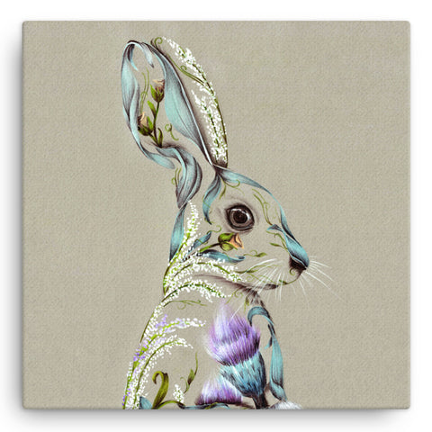 Rustic Hare KB30W Large Canvas by Kat Baxter
