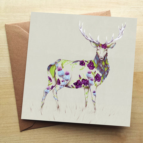 Rustic Stag KB37G Greetings Card by Kat Baxter