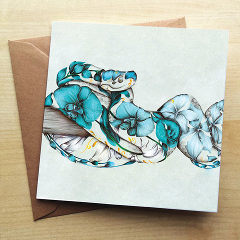 Rustic Viper KB47G Greetings Card by Kat Baxter